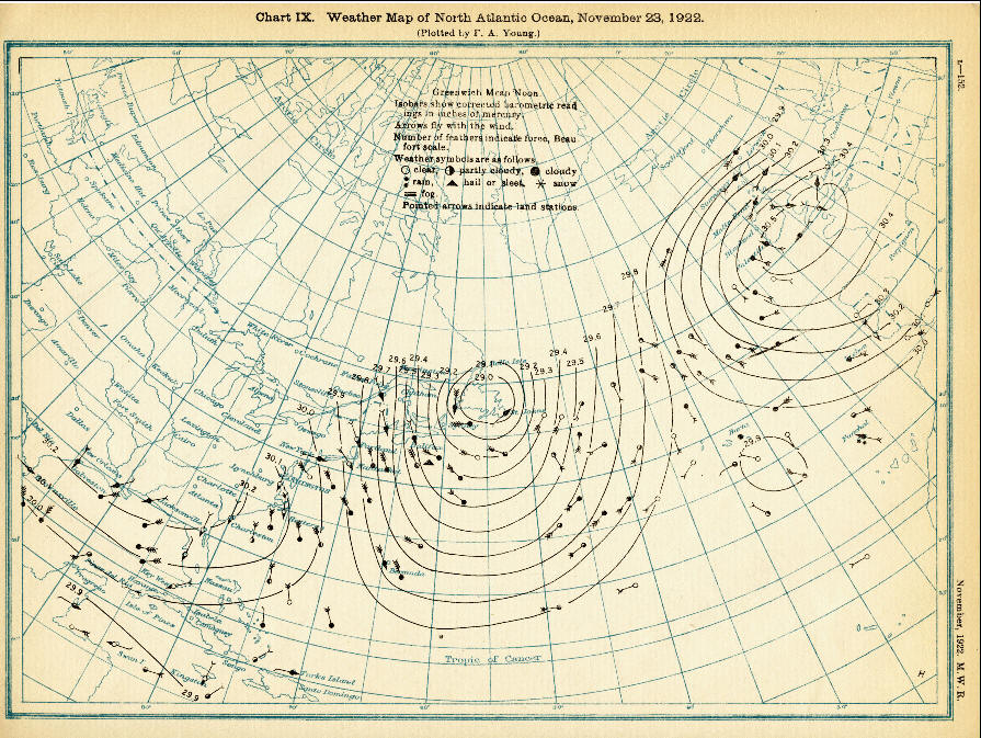 1922 weather map presents short time frame for humanity